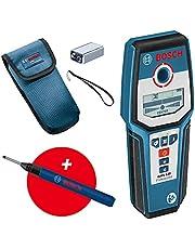 Bosch Professional Wallscanner GMS 120 (marker voor boorgaten, max. detectiediepte hout/ferrometaal/non-ferrometaal/spanningvoerende leiding: 38/120/80/50 mm) - Amazon Exclusive Set