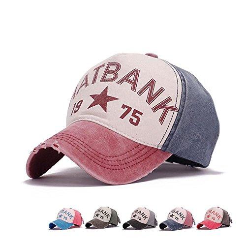 AxiEr Snapback Hats for Women Men,100% Cotton Adjustable Printed Hip Hop Flat Bill Baseball Cap