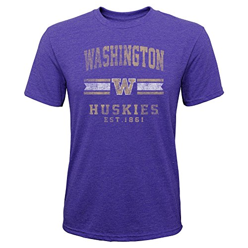 Gen 2 NCAA Washington Huskies Youth Boys Player Pride Tri-Blend Tee, Youth Boys X-Large(18), Purple