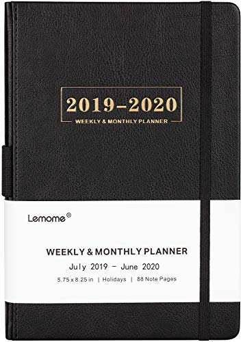 Planner 2019-2020 - Academic Weekly, Monthly and Year Planner with Pen Loop, to Achieve Your Goals & Improve Productivity, Thick Paper, Inner Pocket, 5.75
