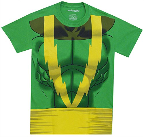 Electro Adult Costumes (I Am Electro Marvel Comics Spider-Man 2 Movie Mighty Fine Adult Costume T-Shirt)