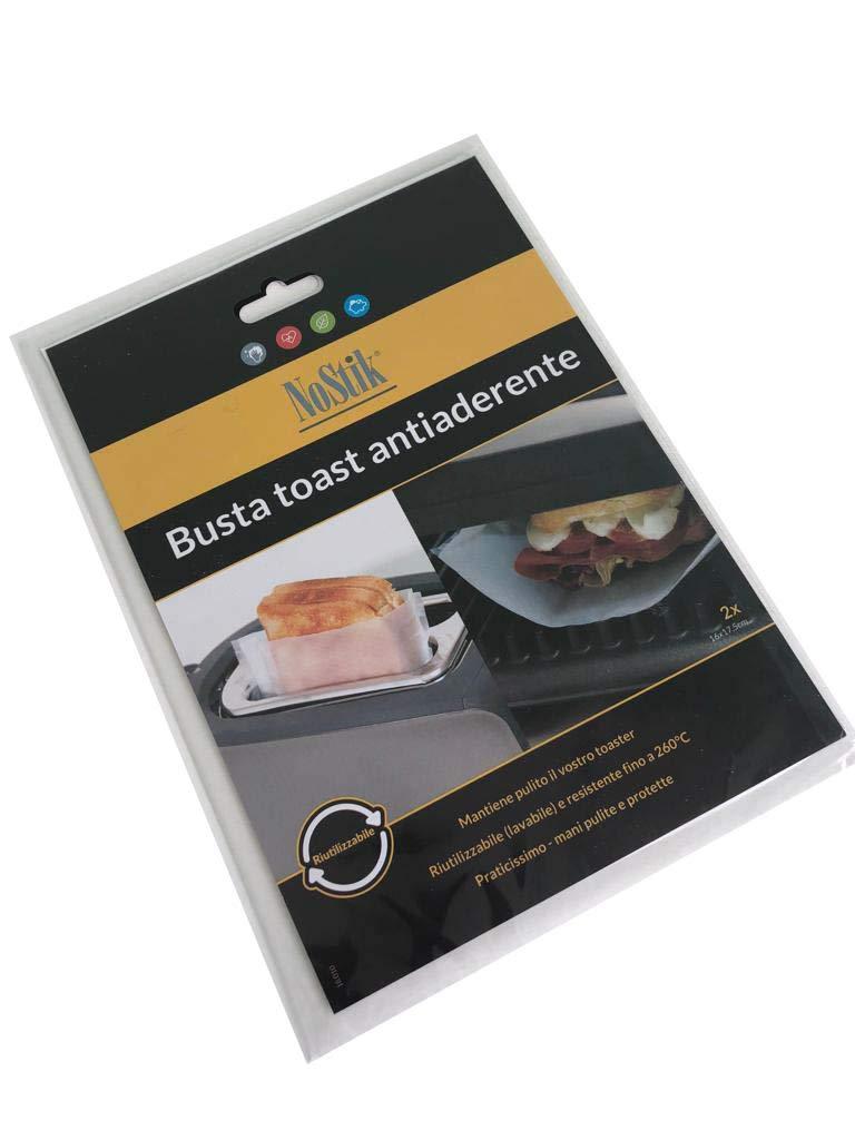 NoStik 2 Buste Toast Antiaderente cm 16x17.5 garantito S/&G Group