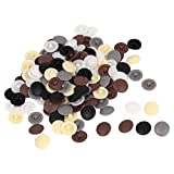 uxcell Plastic Furniture Round Caps Press Fit Bolts Screws Cover 150Pcs