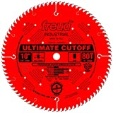 Freud LU85R010 10-Inch 80 Tooth ATB Ultimate Cut-Off Saw Blade with 5/8-Inch Arbor and PermaShield Coating