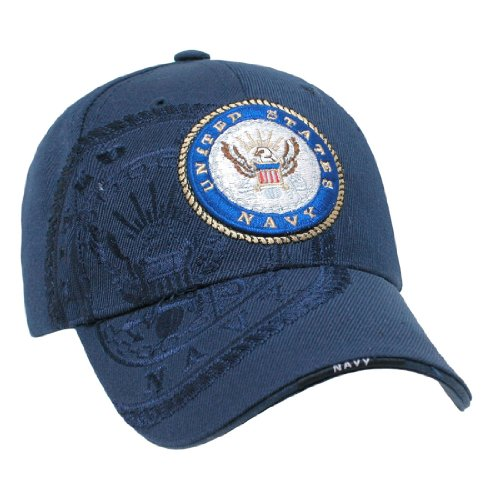 Shadow Embroidered Hat - Rapid Dom US Military Shadow Embroidered Baseball Caps S007 Navy