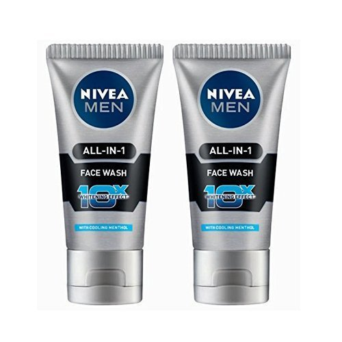 2 Pack X Nivea Men All in 1 Face Wash 10X Whitening Effect and Nivea Men Dark Spot Reduction Moisturiser SPF 30, 15ml -- Expedited International Delivery - Shipping Only - Shipping International Usps
