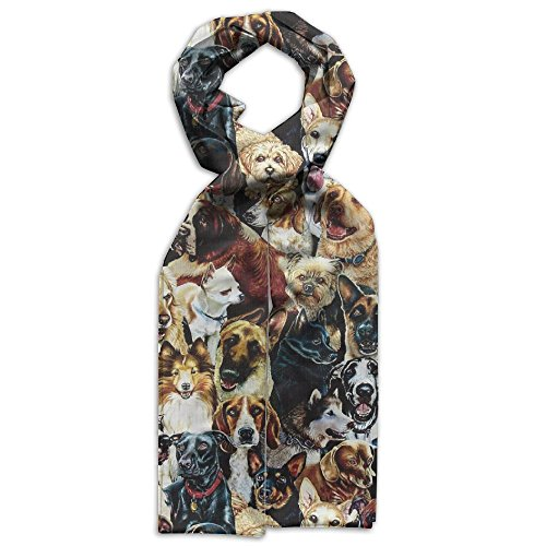 Cute Dog Breeds Dogs Series Youth Gift Box Unique Beautiful Scarves (Series Breeds Beautiful)