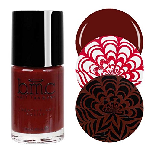 BMC Blood Red Colored Creative Art Stamping Polish