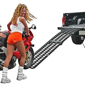 "94.5"" Black Widow Single Folding Arched Motorcycle Ramp"