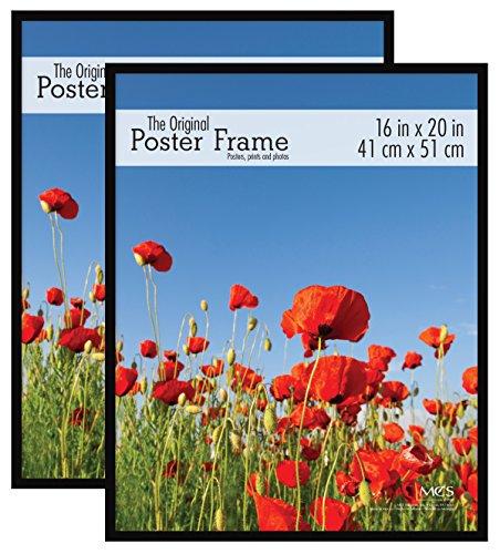 - MCS 16x20 Inch Original Poster Frame 2-Pack, Black (65473)