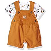 Carhartt Baby Boys 2 Piece Set, Brown, 9M