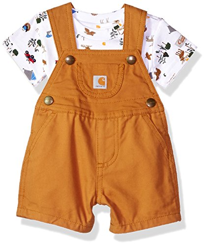 - Carhartt Baby Boys 2 Piece Set, Brown, 18M
