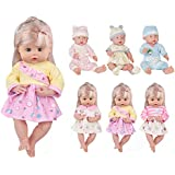 Huang Cheng Toys For 14-15 Inch Alive Lovely Baby Doll Reborn Newborn Clothes 6 PCS Sleepwear Nightgown Dress Shoes