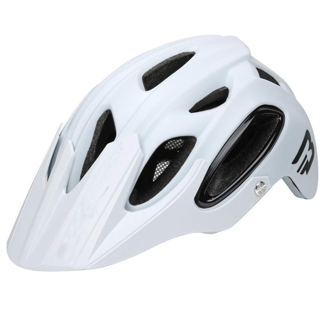 IHUGBG Fahrrad Matte schwarz Männer Frauen Ultra Light Mountain Road Integral geformte Fahrradhelme Weiß