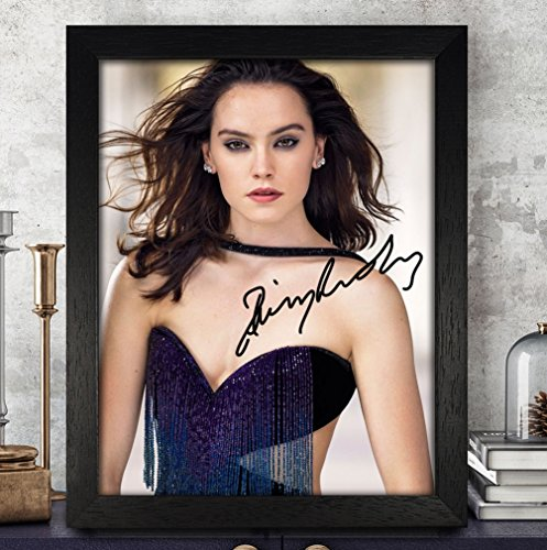 Daisy Ridley Signed Autographed Photo 8X10 Reprint Rp Pp   Star Wars  The Force Awakens