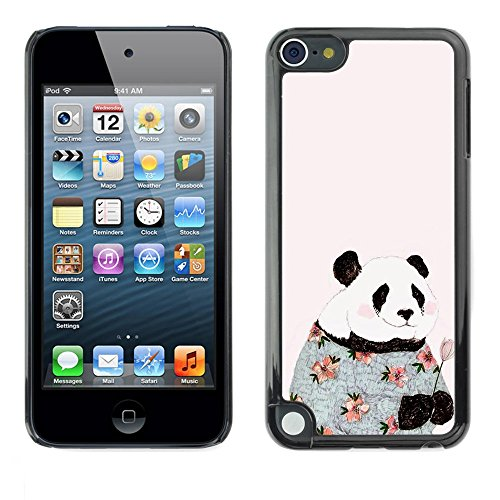 Soft Silicone Rubber Case Hard Cover Protective Accessory Compatible with Apple IPod? Touch 5 - absurd pink fashion flowers happy