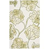 Cheap Safavieh Dip Dye Collection DDY683B Handmade Modern Floral Watercolor Ivory and Light Green Wool Area Rug (4′ x 6′)