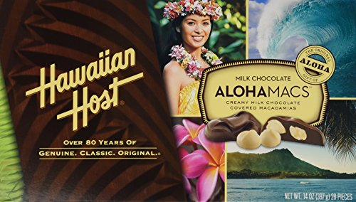 Hawaiian Host Alohamacs Milk Chocolate The Original Chocolate Covered Macadamia Nut, 14 Ounce ()