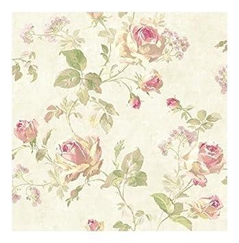 Wallquest Papier Peint Floral Shabby Country Effet Aquarelle
