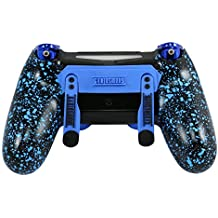 PS4 Elite Controller Soft Touch Blue Chrome Custom with Paddles, Trigger Stops. Professional level graded equipment. Tournament approved and legal! For FPS games, COD WW2, Fortnite, Destiny, Black Ops