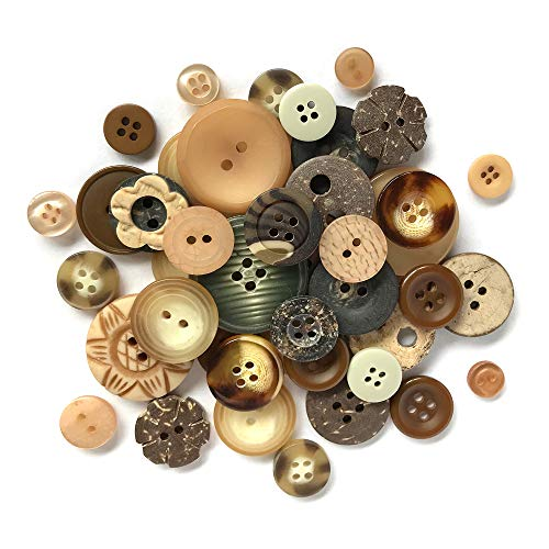 Buttons Galore and More Haberdashery Collection - Extensive Selection of Novelty Buttons and Embellishments for DIY Crafts, Scrapbooking, Sewing, Cardmaking, and Other Art & Creative Projects -