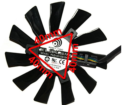 Tebuyus Replacement Video Card Cooling Fan For R9 290X R9-280X R9-270X R7-260X GTX780Ti GTX780 GTX760 GTX750Ti Graphics Card Fan PLD10010B12HH 12V 0.4A 94mm 4 Pin