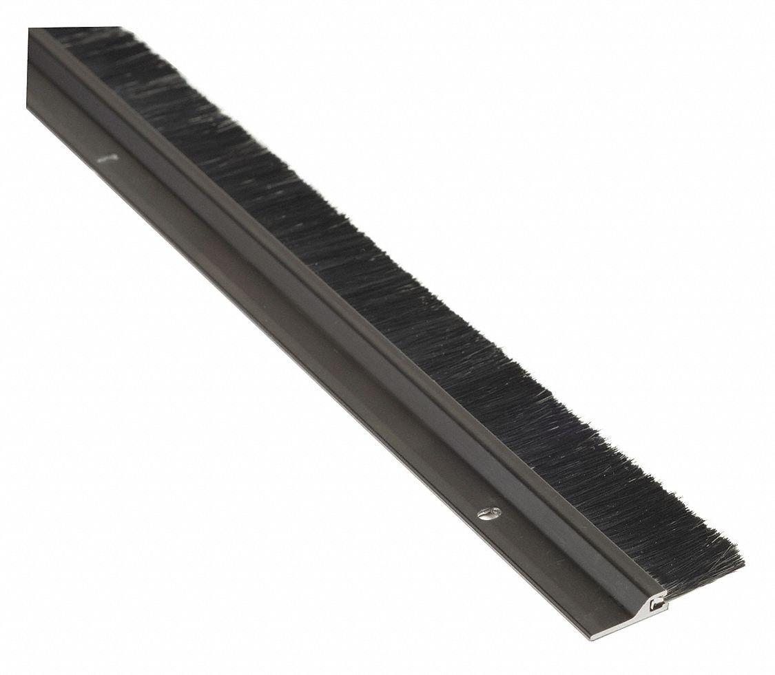 Nylon Brush Brush, Dark Bronze Aluminum, 3 ft. Length, 7/8'' Flange Height, 1'' Insert Size