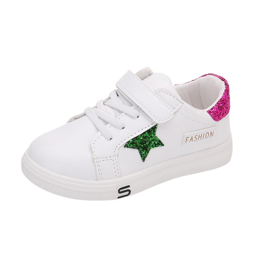 FORESTIME_baby shoes DRESS ユニセックスベビー 9-9.5 years ホットレッド B07F2ZGQB6