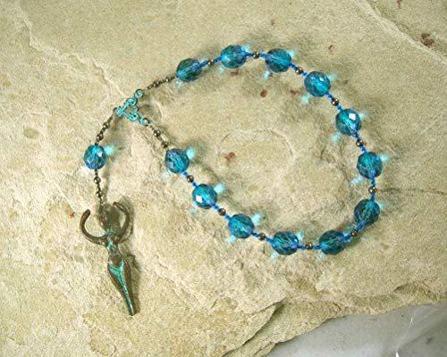 Goddess Pocket Prayer Beads with Nile Goddess Pendant (The Goddess Nile)