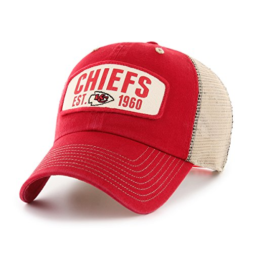 NFL Kansas City Chiefs Woodford OTS Challenger Adjustable Hat, Red, One Size