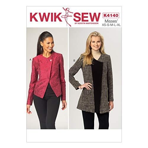 KWIK-SEW PATTERNS K4140 Misses' Jackets, (X-Small-X-Large)