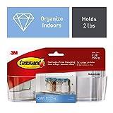 Command 2 lb Capacity Cabinet Organizer, Indoor Use, 1 caddy, 4 strips (HOM14CLR-ES)