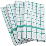 DII Cotton Terry Windowpane Dish Towels, 16 x 26