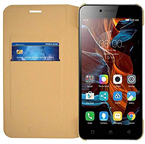 coverage Flip Cover for samsung galaxy grand prime g530h   golden