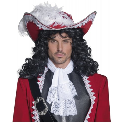Smiffy's Men's Authentic Pirate Hat, Red, One Size, 36172