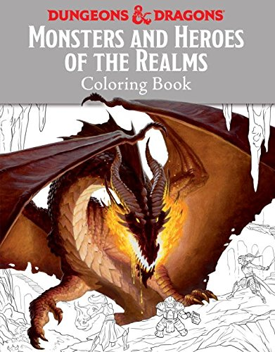 Monsters Heroes Realms Dungeons Coloring product image