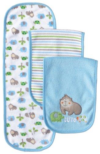 Gerber Baby Boys 3 Pack Terry Burp Cloths