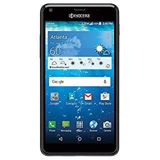 """Cricket KYOCERA Hydro View 5"""" QHD Display 4G LTE Water Proof and Dust Proof (3ft/30min) (Locked to Cricket)"""