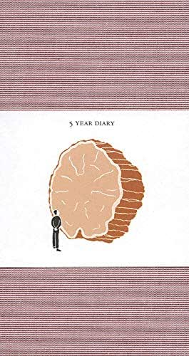 5 Year Diary: Red Cover