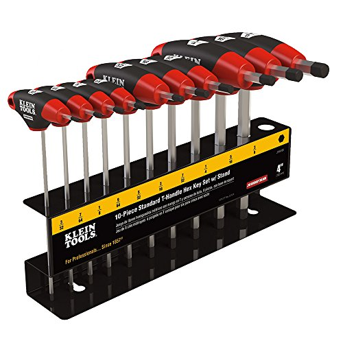 Journeyman SAE T-Handle Hex Key Set with Stand, 4-Inch Blade, 10-Piece Klein Tools JTH410E