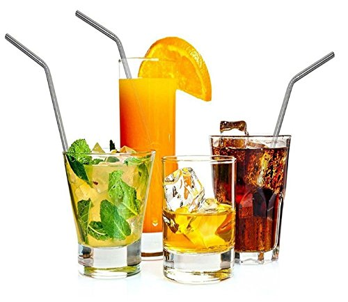 8pcs Stainless Steel Drinking Straws Metal+Brushes for 20/30oz Tumbler Cups from Unknown