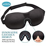 #7: Eye Mask for Sleeping, Unimi Sleep Mask for Men Women, Block Out Light, Comfort and Lightweight 3D Eye Cover, Pressure-Free Eye Shades for Travel, Shift Work, Naps, Night Blindfold (Black)