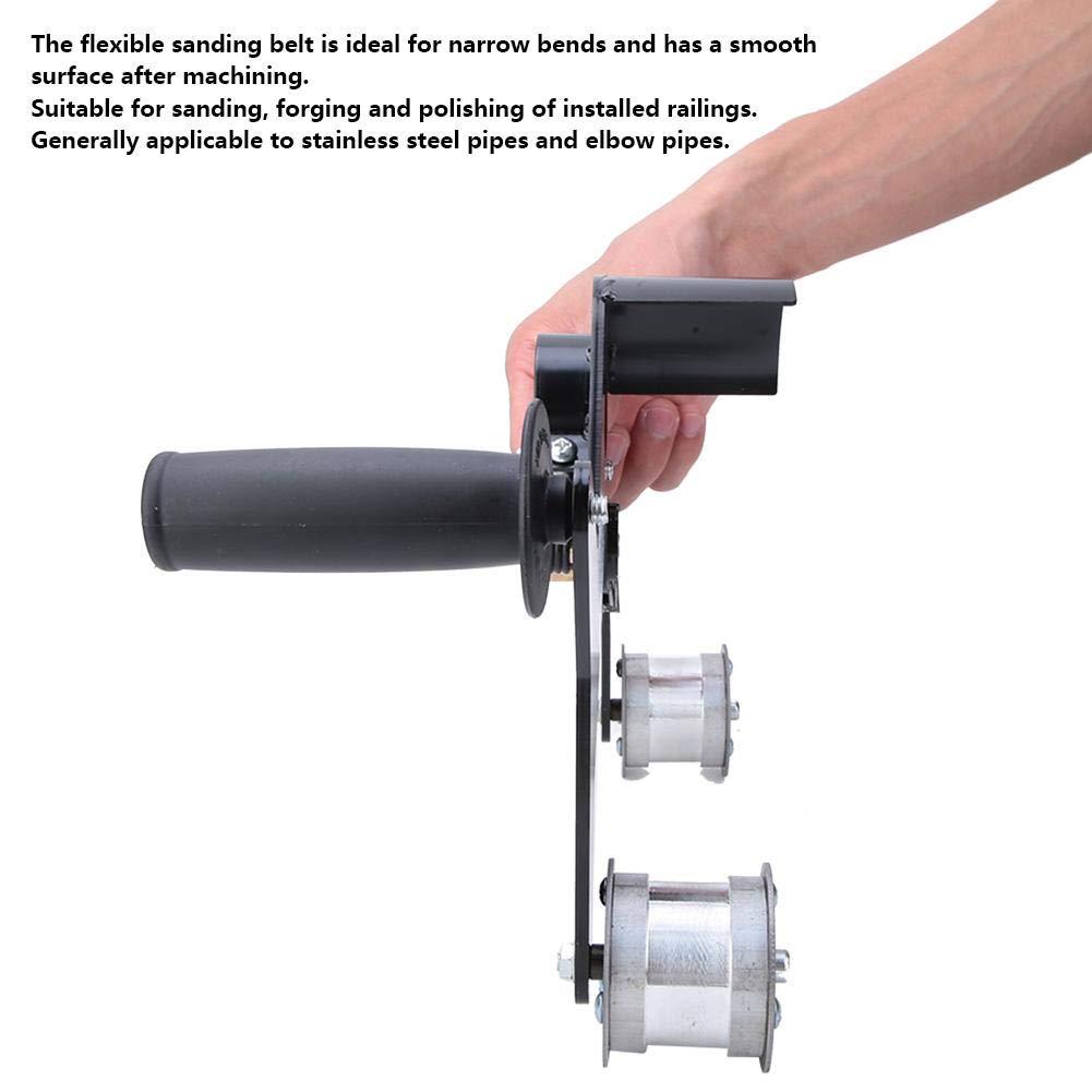 Tragbare Rundrohrschleifer Griffbandschleifer Polierer Schleifen Polieren Schleifen Arbeitsmaschine f/ür Edelstahl