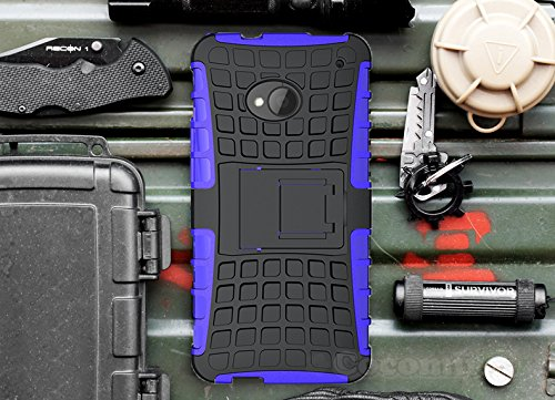 Cocomii Grenade Armor HTC One M7 Case New [Heavy Duty] Premium Tactical Grip Kickstand Shockproof Hard Bumper Shell [Military Defender] Full Body Dual Layer Rugged Cover for HTC One M7 (G.Purple)