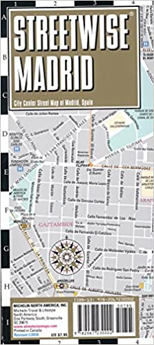 Streetwise Madrid Map Laminated City Center Street Map of Madrid