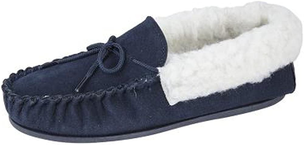 Womens Ladies Real Suede Moccasins