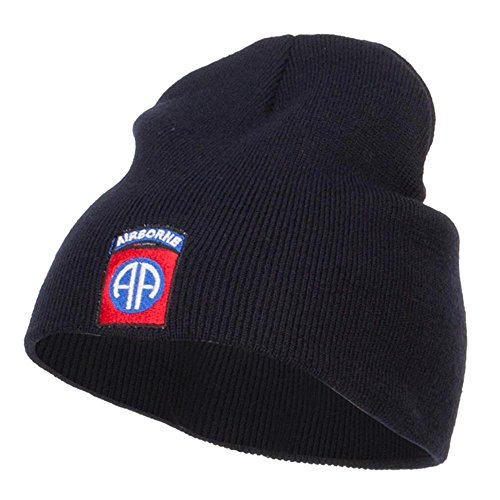 E4hats 82nd Airborne Embroidered Short Beanie - Navy ()