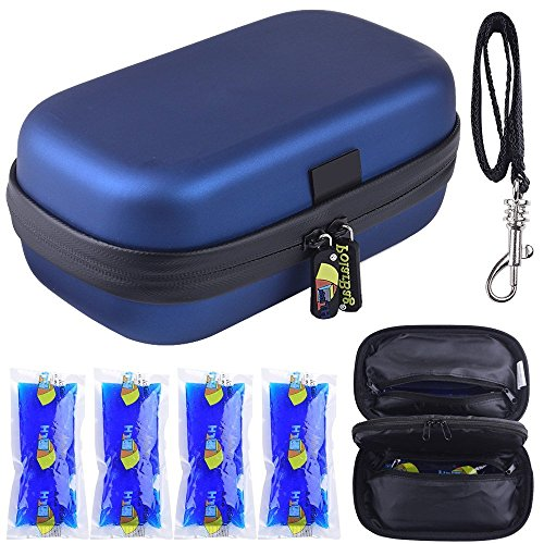 PAIYULE Medical Insulin Cooler Travel Case, Diabetic Organizer - Includes 4 Ice Pack.