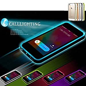 LCJ Lncoming Call LED Blink Transparent TPU Back Cover Case for iPhone 4/4S (Assorted color) , Purple
