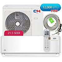 COOPER AND HUNTER Cooper & Hunter Sophia Wall Mount 12,000 BTU 21.5 SEER Ductless Mini Split Air Conditioner Heat Pump with WiFi module and Installation Kit